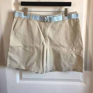 Jones New York Flat Front Shorts with Belt